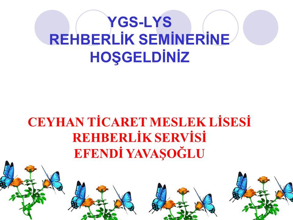 YGS-LYS REHBERLİK SEMİNERİNE HOŞGELDİNİZ