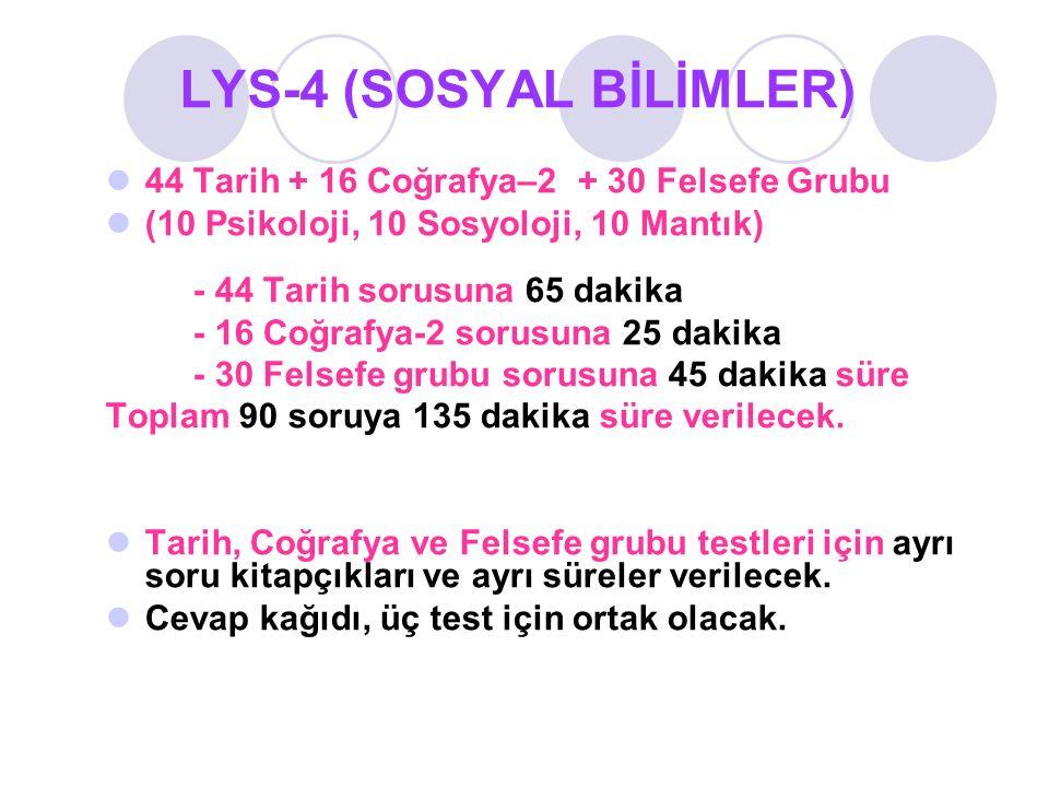 LYS-4 (SOSYAL BİLİMLER)