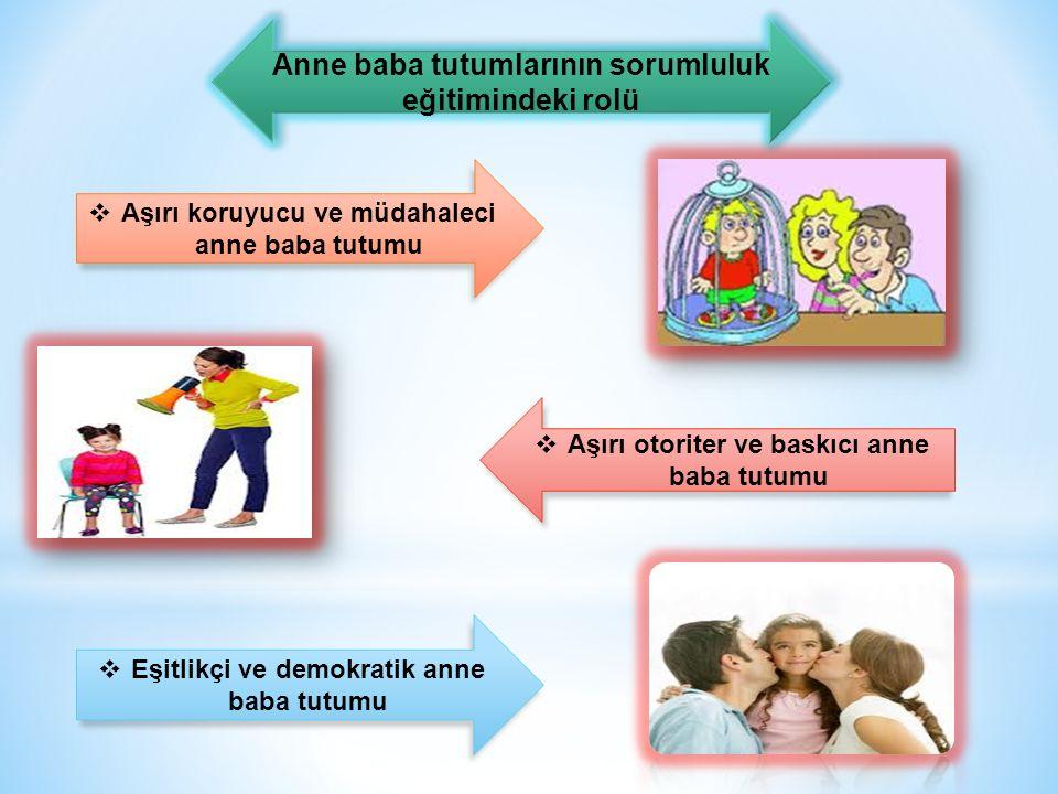Anne baba tutumlarının sorumluluk eğitimindeki rolü