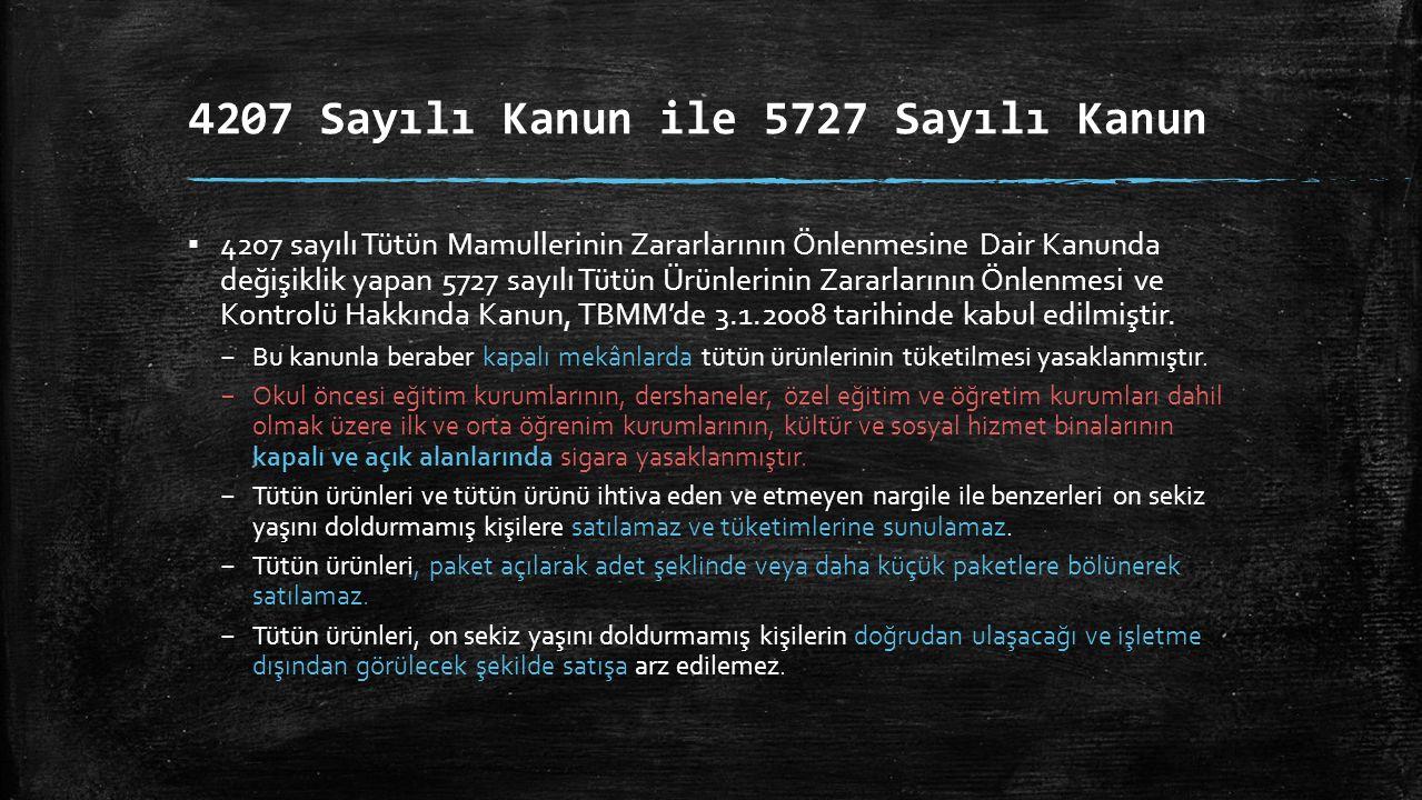 4207 Sayılı Kanun ile 5727 Sayılı Kanun