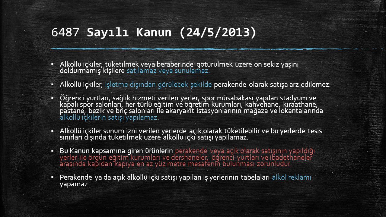 6487 Sayılı Kanun (24/5/2013)