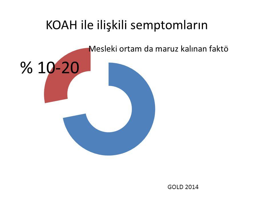 KOAH ile ilişkili semptomların