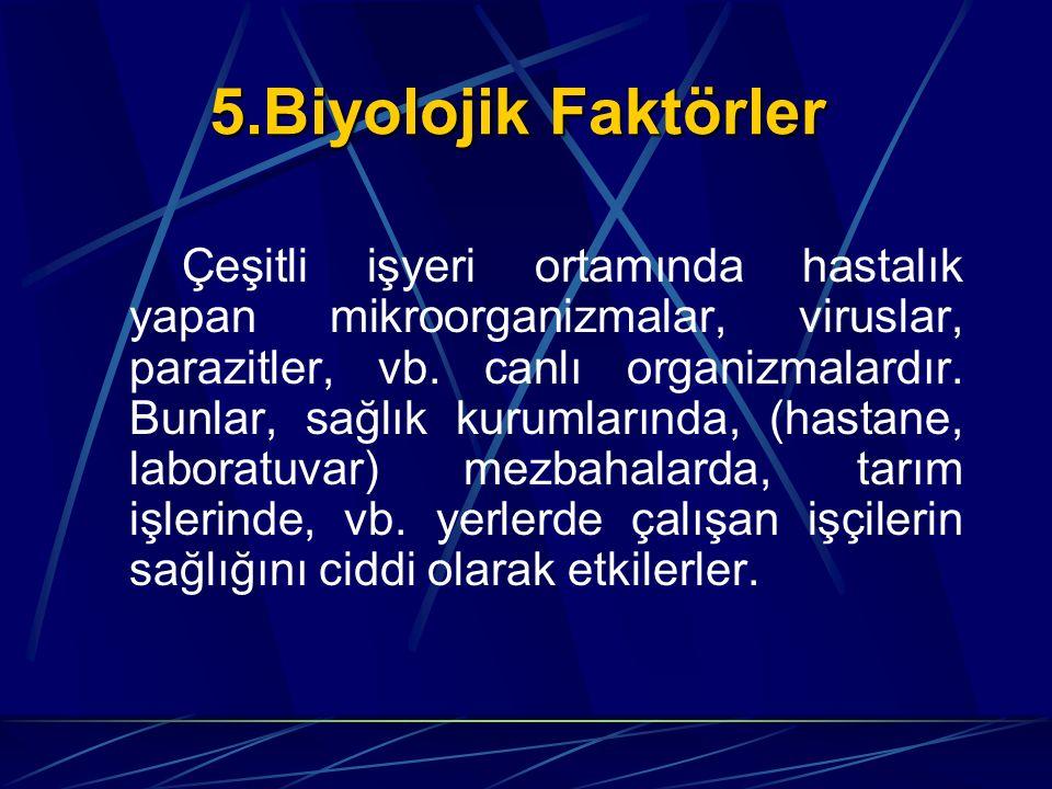 5.Biyolojik Faktörler