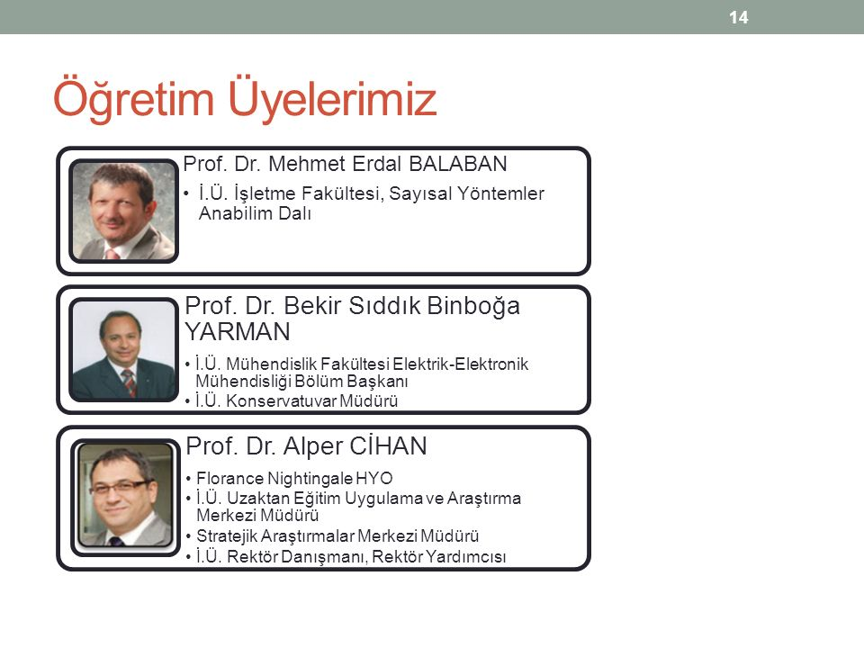 Öğretim Üyelerimiz Prof. Dr. Alper CİHAN