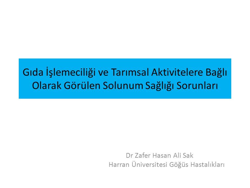 Dr Zafer Hasan Ali Sak Harran Üniversitesi Göğüs Hastalıkları