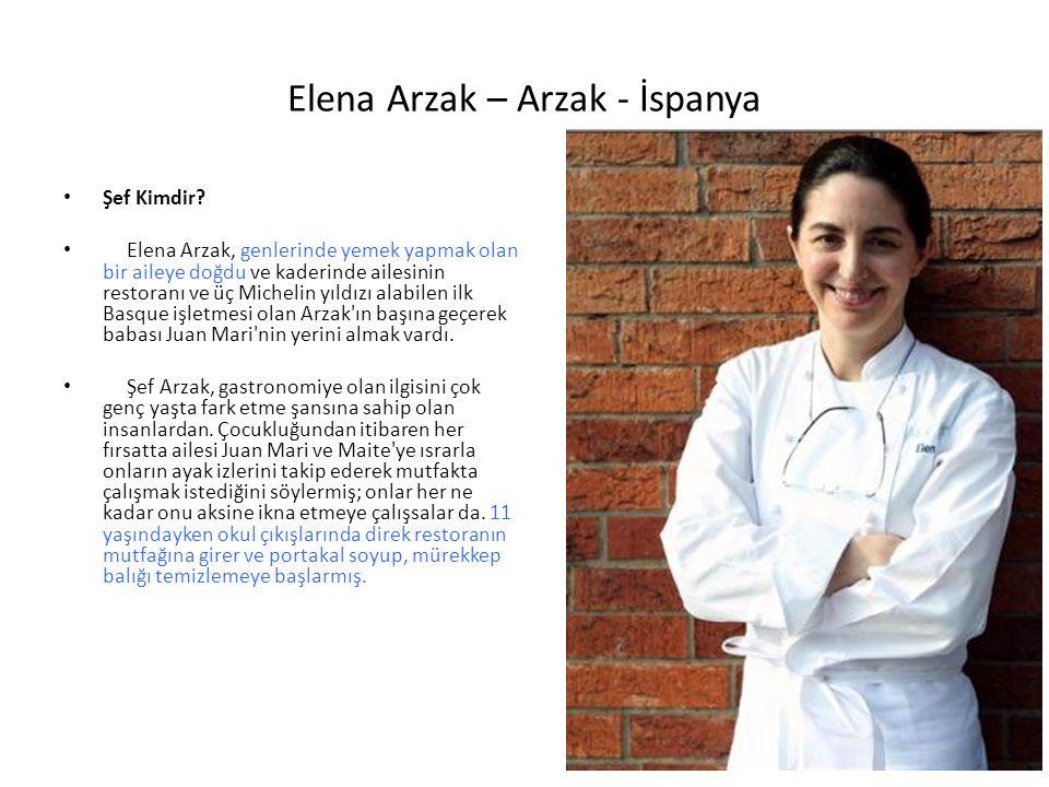 Elena Arzak – Arzak - İspanya