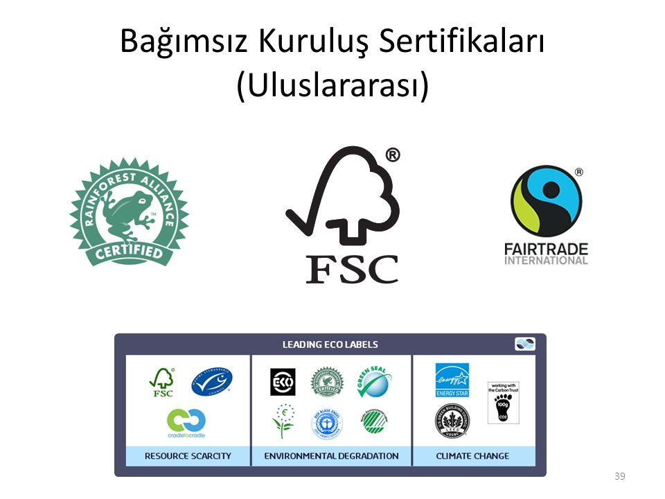 Bağımsız Kuruluş Sertifikaları (Uluslararası)