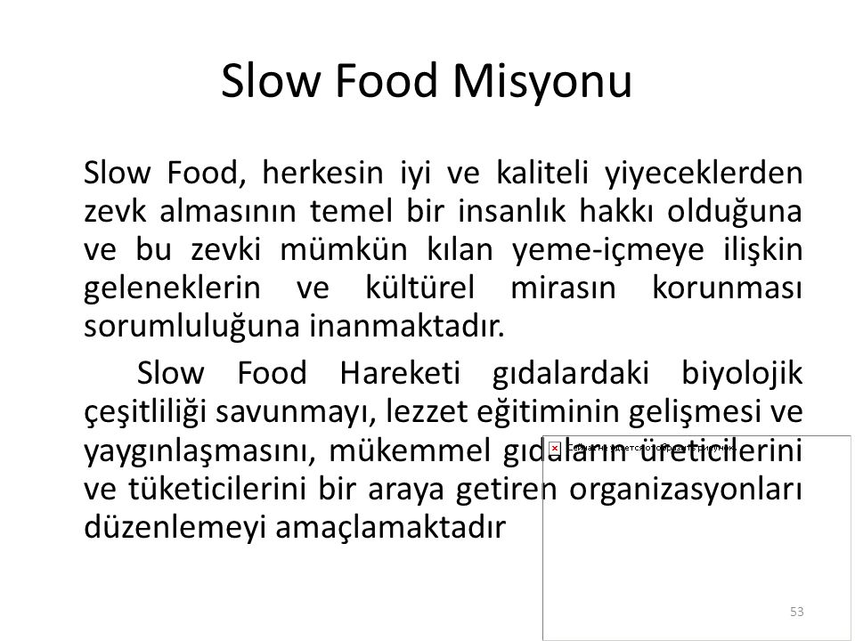 Slow Food Misyonu