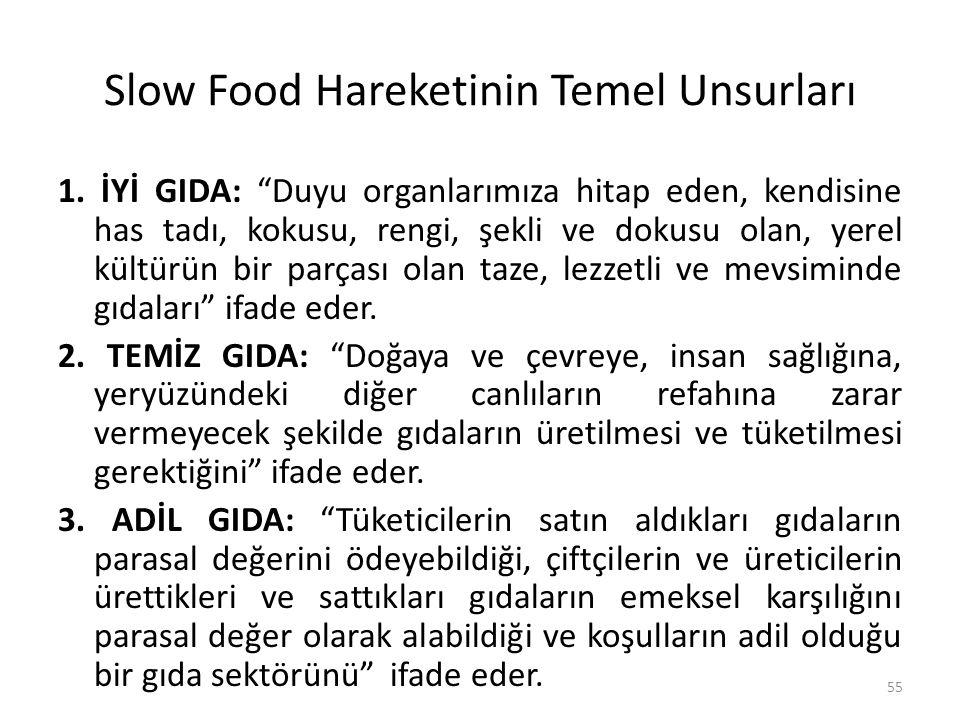 Slow Food Hareketinin Temel Unsurları