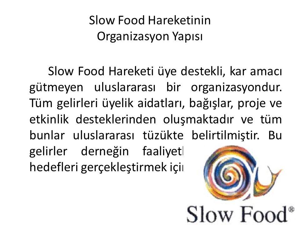 Slow Food Hareketinin Organizasyon Yapısı