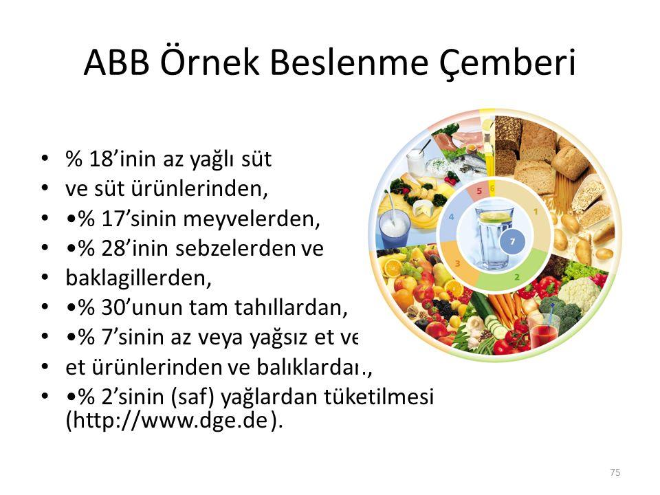ABB Örnek Beslenme Çemberi