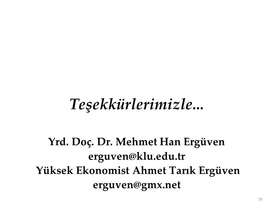Yrd. Doç. Dr. Mehmet Han Ergüven Yüksek Ekonomist Ahmet Tarık Ergüven