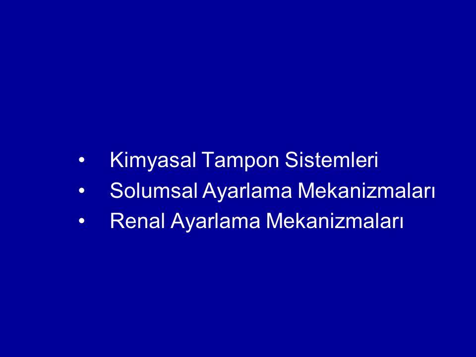 Kimyasal Tampon Sistemleri