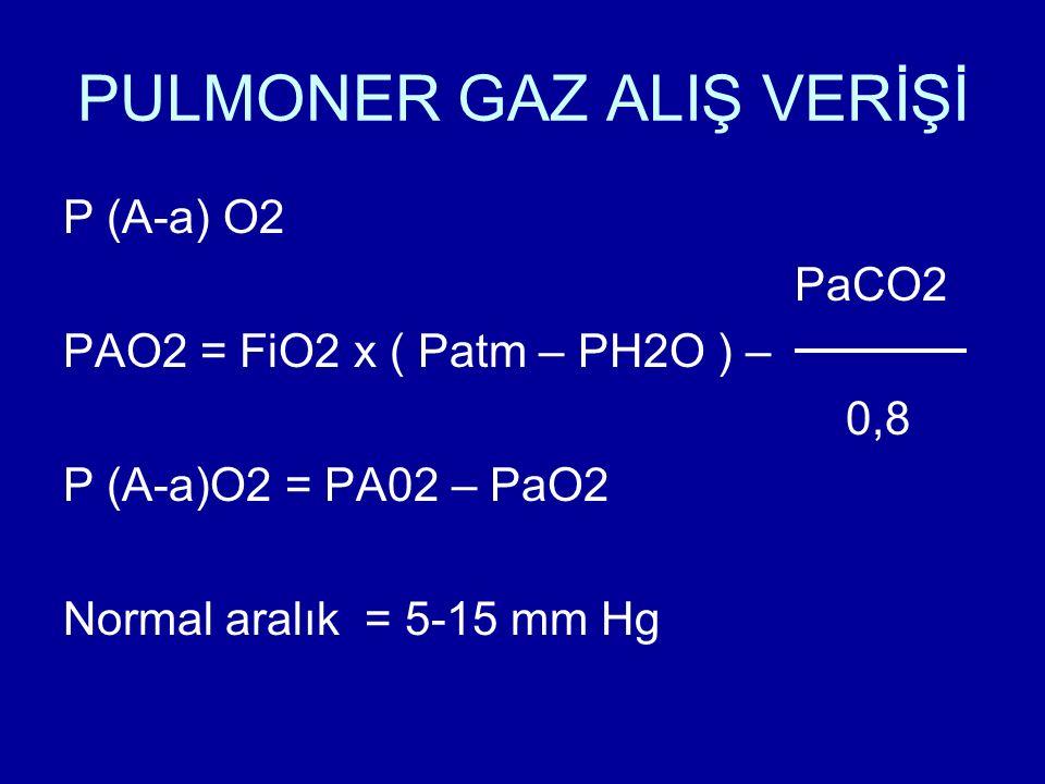 PULMONER GAZ ALIŞ VERİŞİ