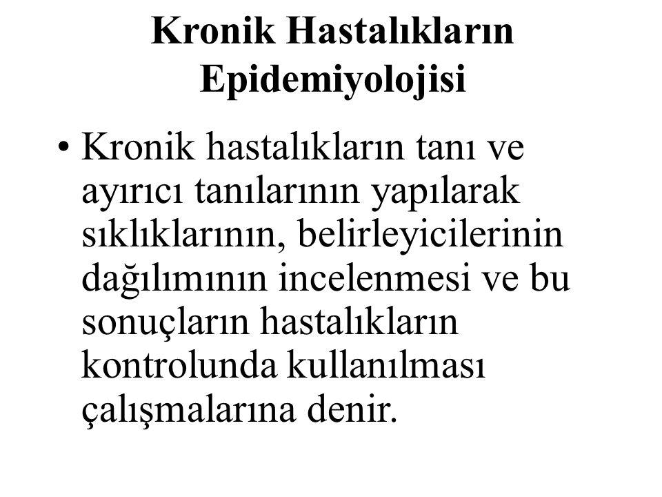Kronik Hastalıkların Epidemiyolojisi