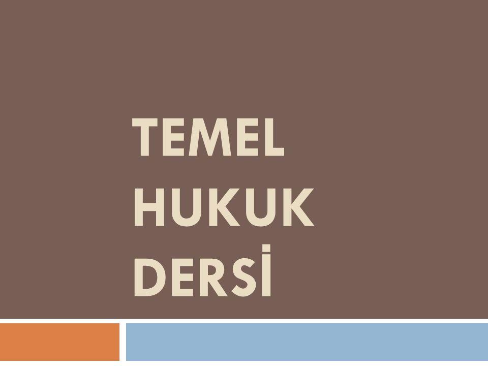 TEMEL HUKUK DERSİ