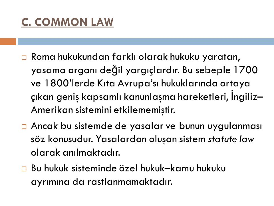 C. COMMON LAW