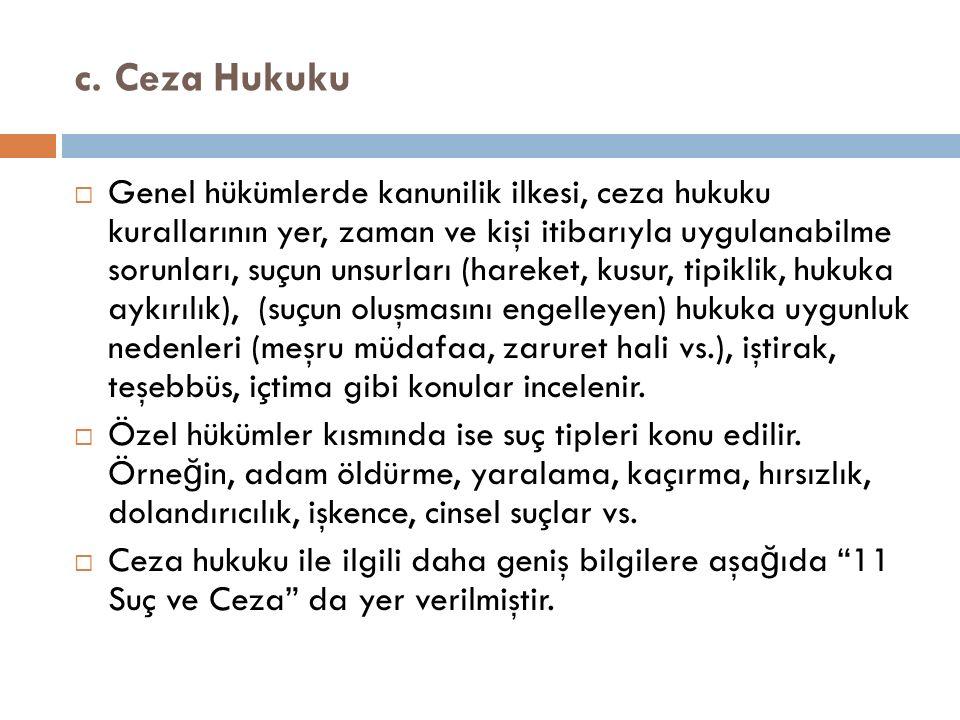 c. Ceza Hukuku