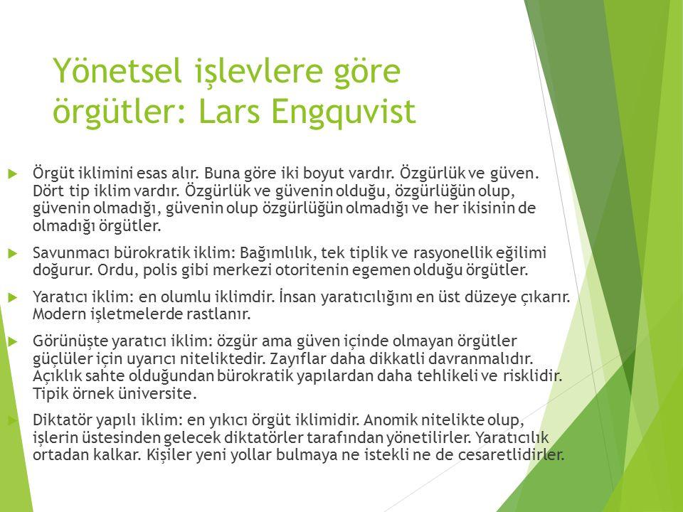 Yönetsel işlevlere göre örgütler: Lars Engquvist
