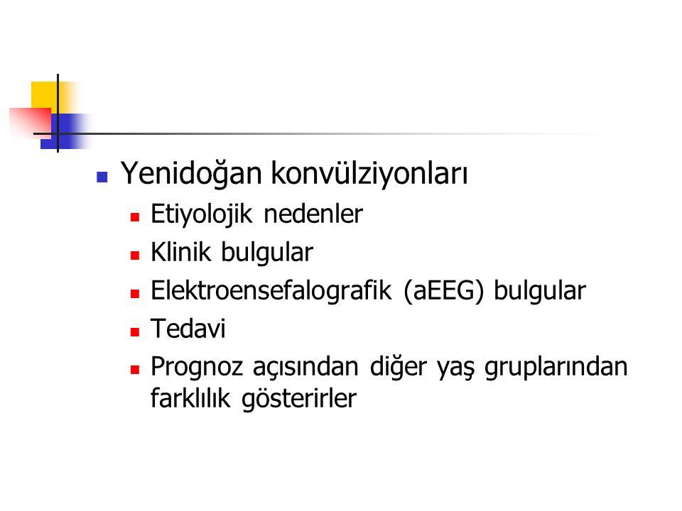 Yenidoğan konvülziyonları