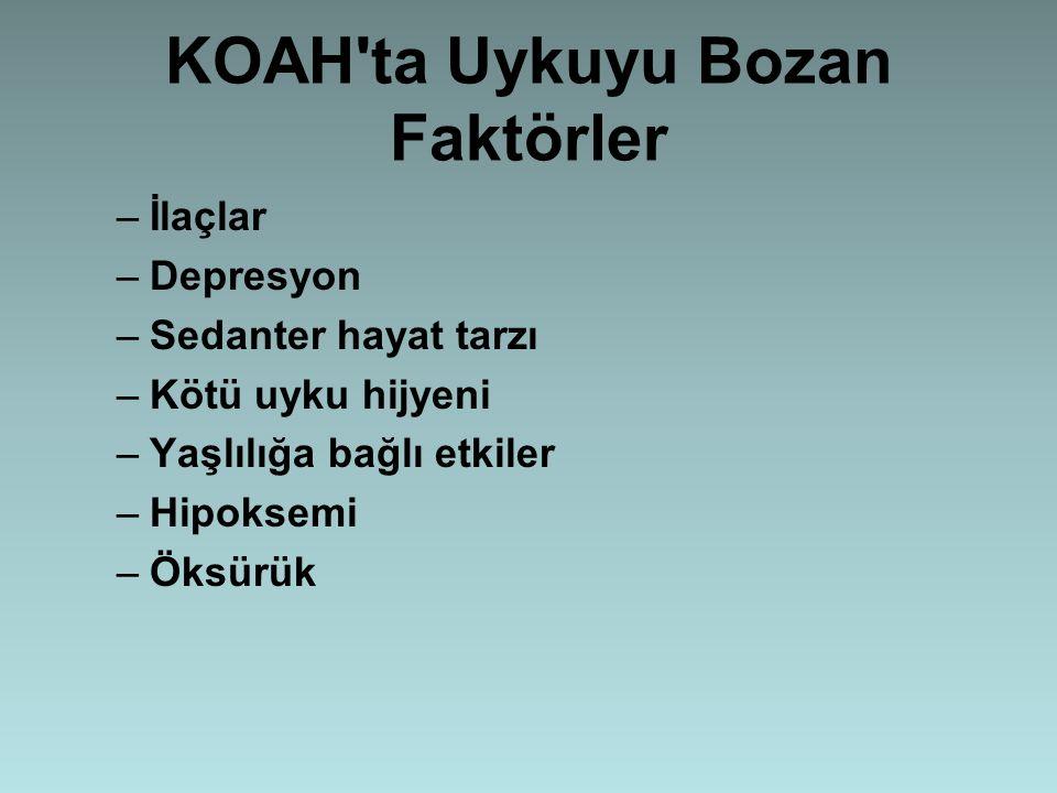 KOAH ta Uykuyu Bozan Faktörler