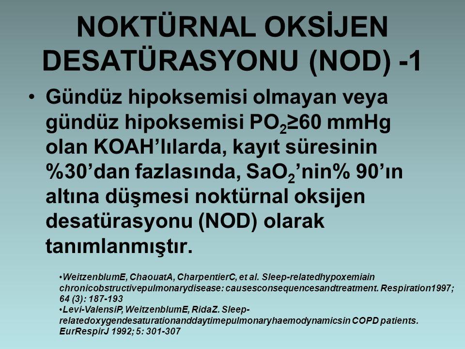 NOKTÜRNAL OKSİJEN DESATÜRASYONU (NOD) -1