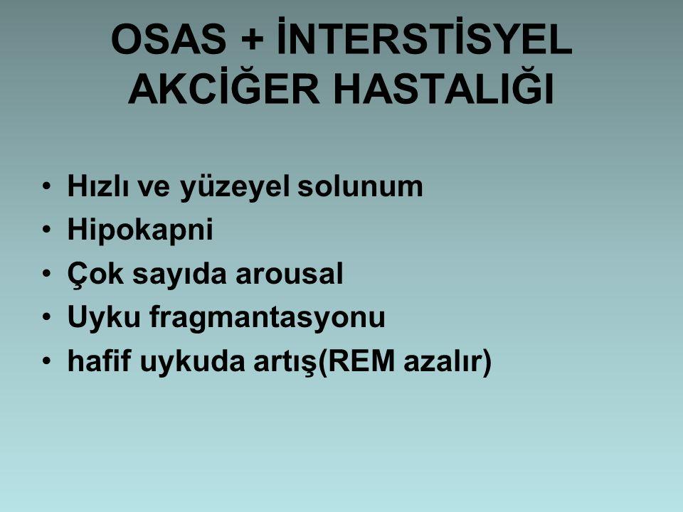 OSAS + İNTERSTİSYEL AKCİĞER HASTALIĞI