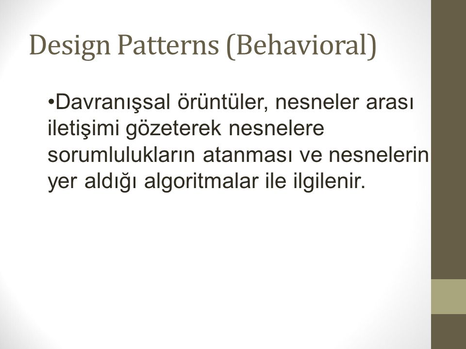 Design Patterns (Behavioral)
