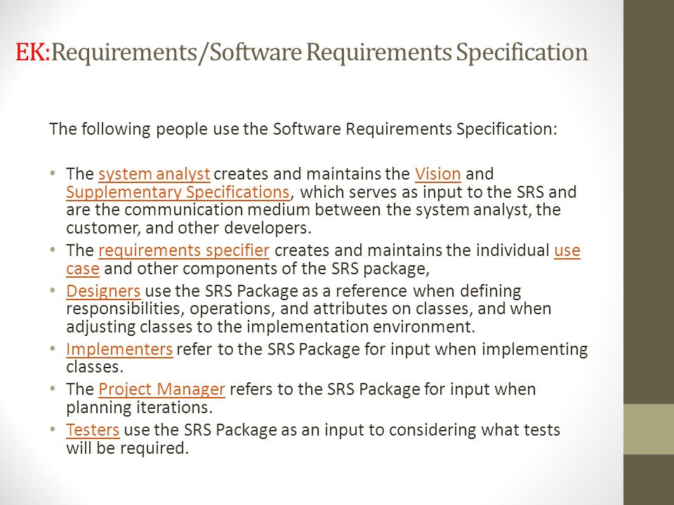 EK:Requirements/Software Requirements Specification