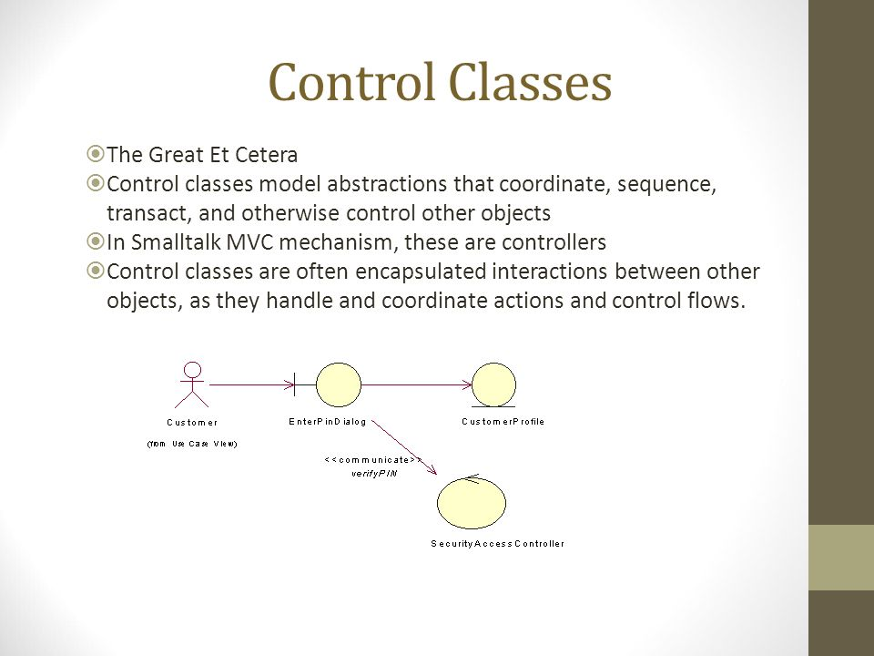 Control Classes The Great Et Cetera