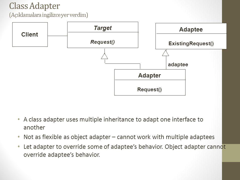 Class Adapter (Açıklamalara ingilizce yer verdim)