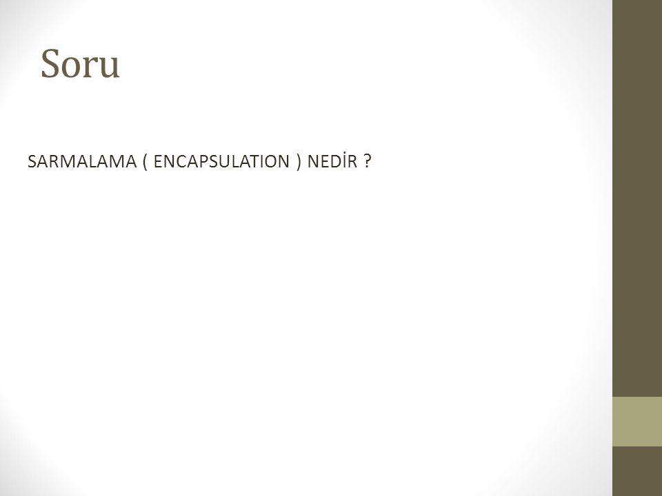 Soru SARMALAMA ( ENCAPSULATION ) NEDİR