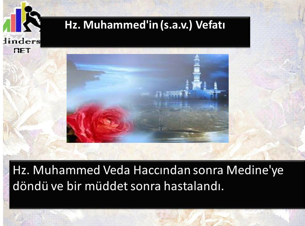Hz. Muhammed in (s.a.v.) Vefatı