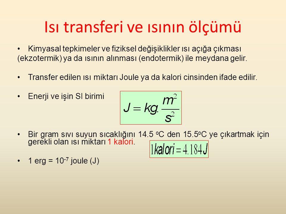 Isı transferi ve ısının ölçümü