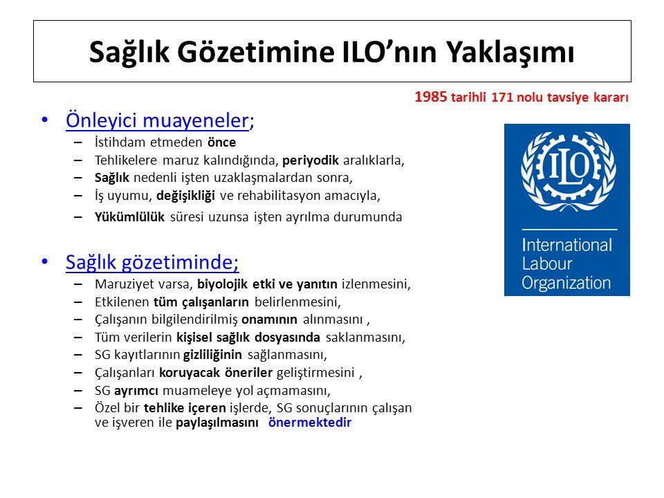 Sağlık Gözetimine ILO'nın Yaklaşımı
