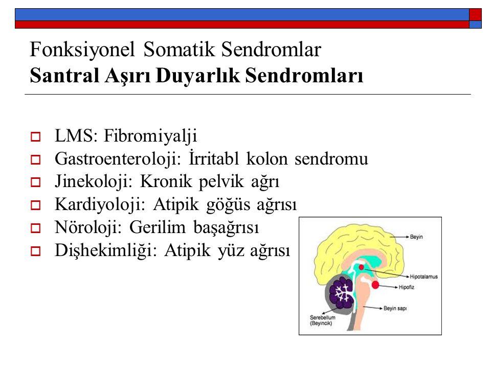 Fonksiyonel Somatik Sendromlar Santral Aşırı Duyarlık Sendromları