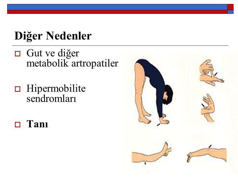 Diğer Nedenler Gut ve diğer metabolik artropatiler