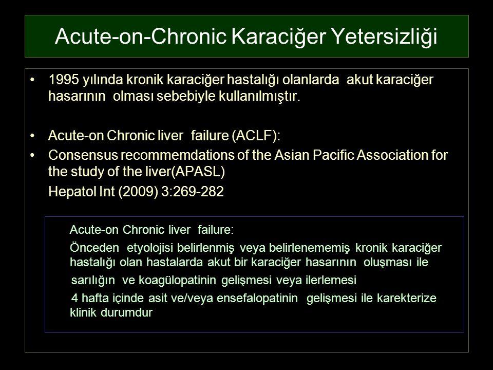 Acute-on-Chronic Karaciğer Yetersizliği