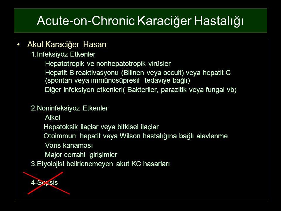 Acute-on-Chronic Karaciğer Hastalığı