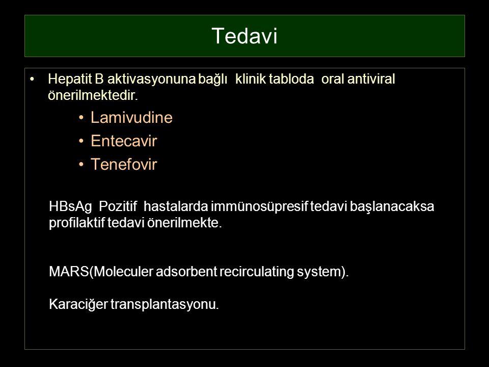 Tedavi Lamivudine Entecavir Tenefovir