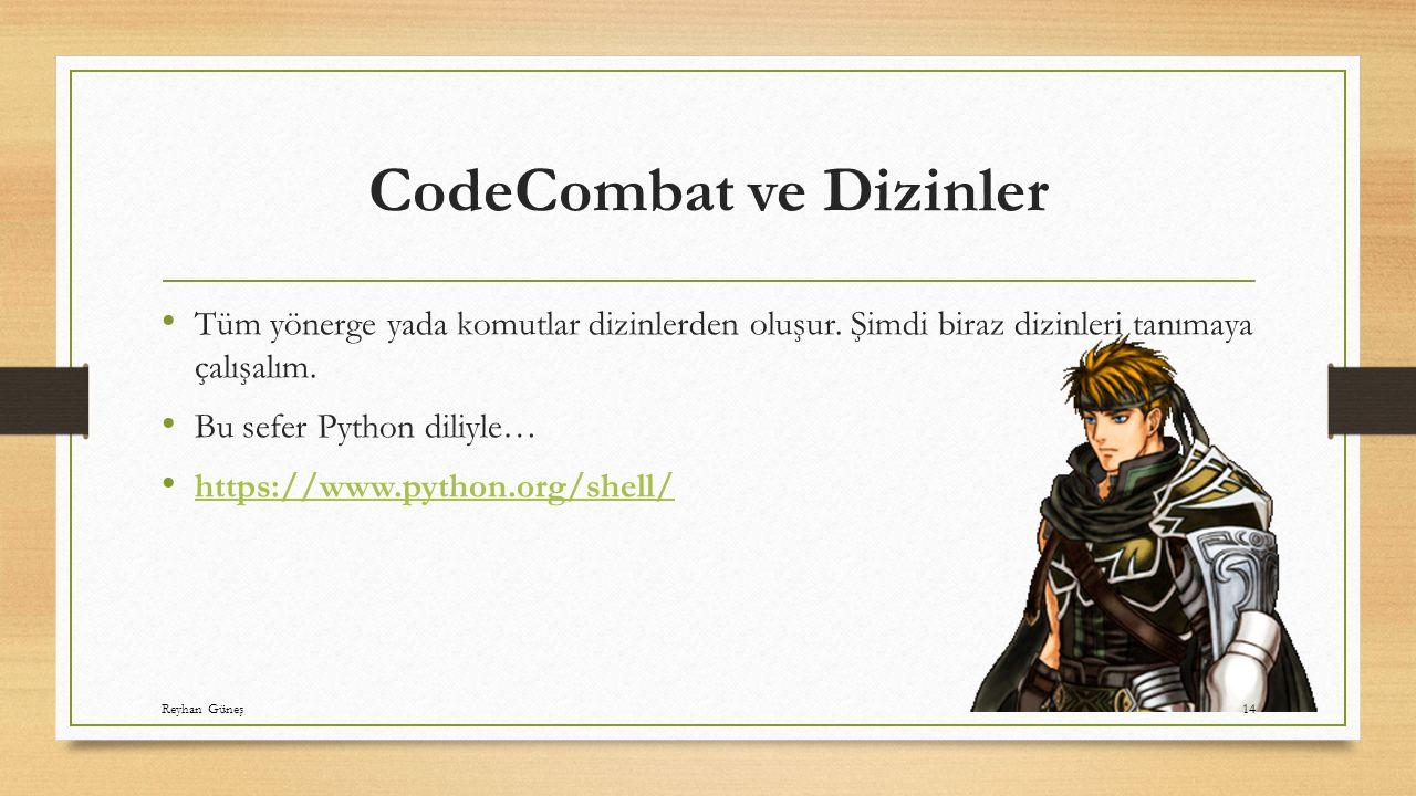 CodeCombat ve Dizinler