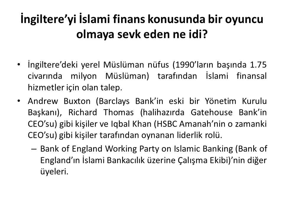 İngiltere'yi İslami finans konusunda bir oyuncu olmaya sevk eden ne idi