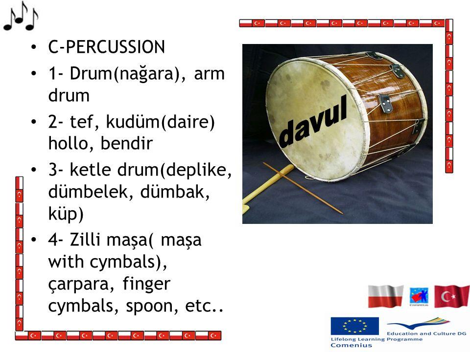 davul C-PERCUSSION 1- Drum(nağara), arm drum