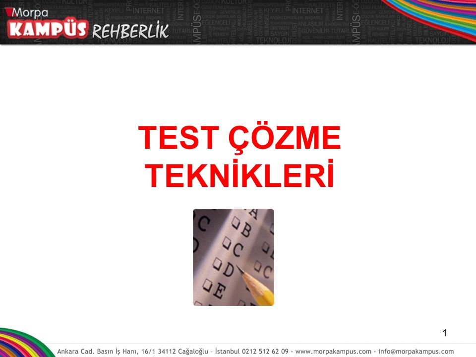 TEST ÇÖZME TEKNİKLERİ www.guzelogrenciler.com