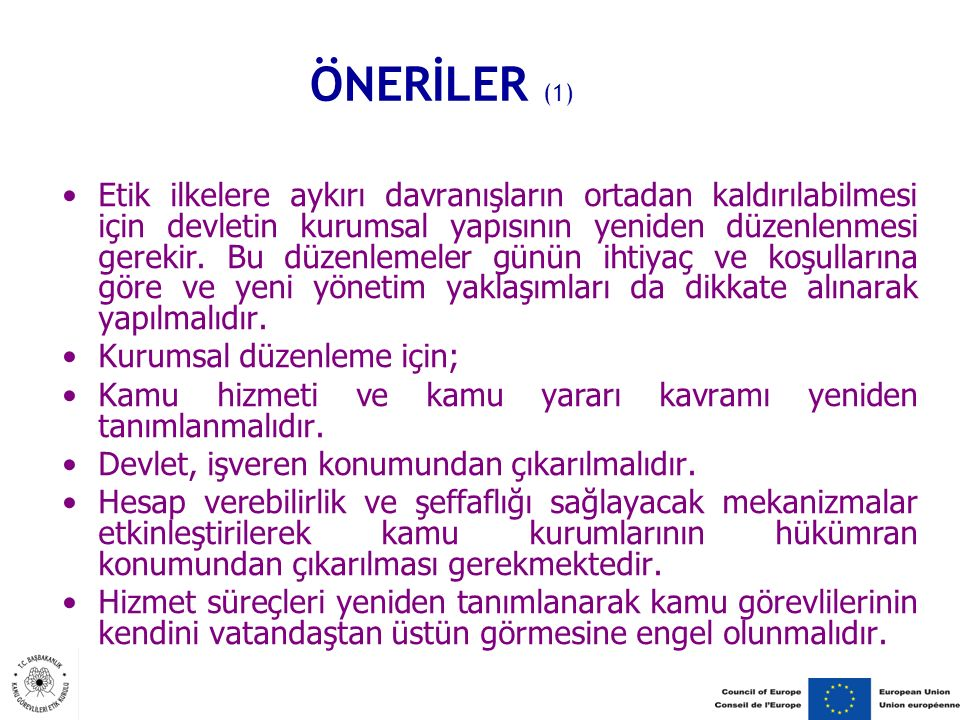 ÖNERİLER (1)