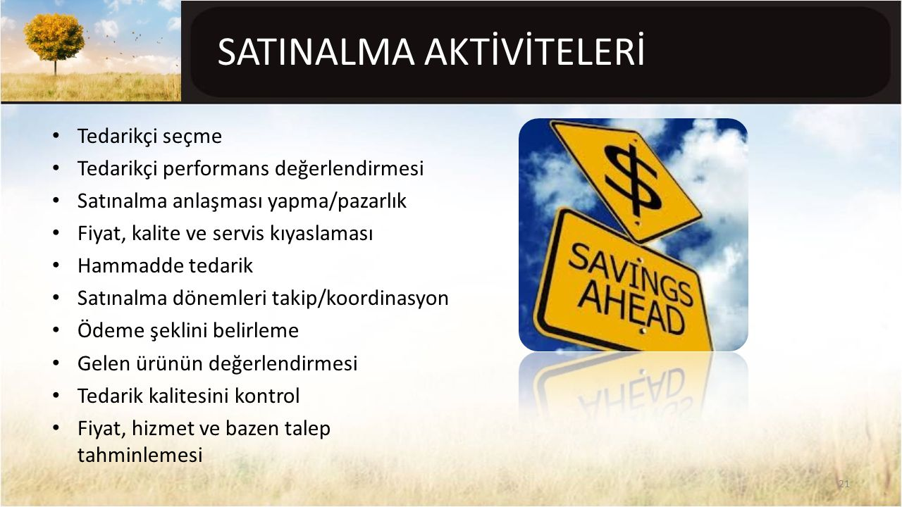 SATINALMA AKTİVİTELERİ