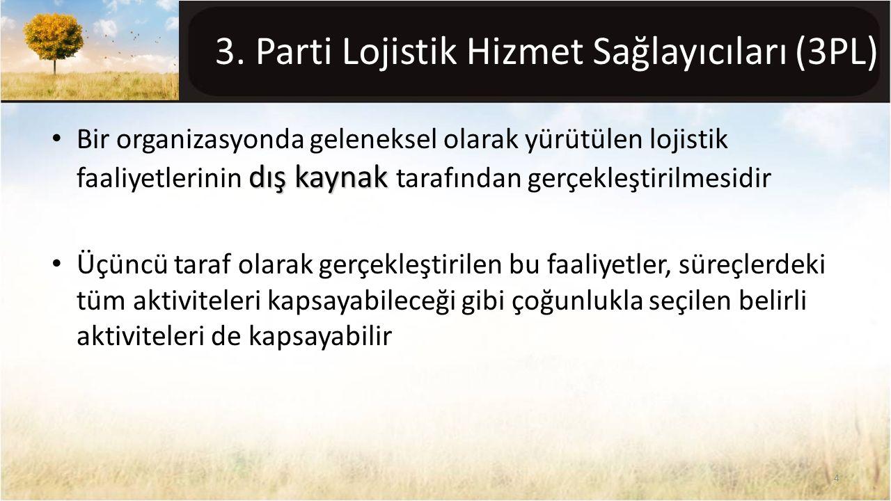 3. Parti Lojistik Hizmet Sağlayıcıları (3PL)
