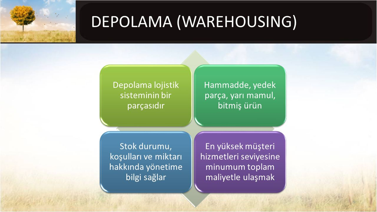 DEPOLAMA (WAREHOUSING)