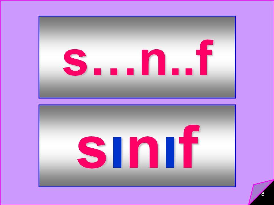 s…n..f sınıf