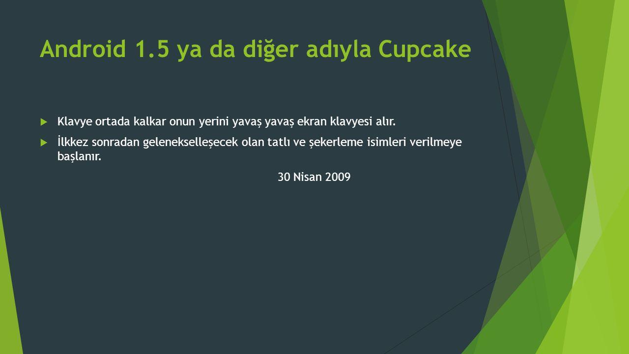 Android 1.5 ya da diğer adıyla Cupcake